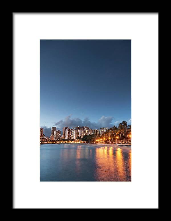 Honolulu Framed Print featuring the photograph Hawaii, Oahu, Honolulu by Michele Falzone