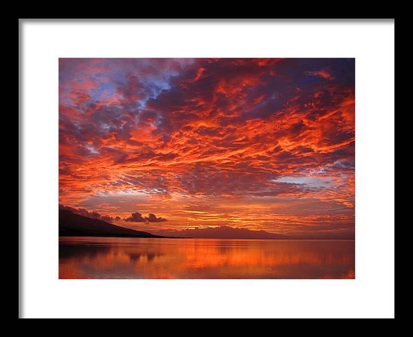 Molokai Framed Print featuring the photograph Hawaii Sunrise by James Temple