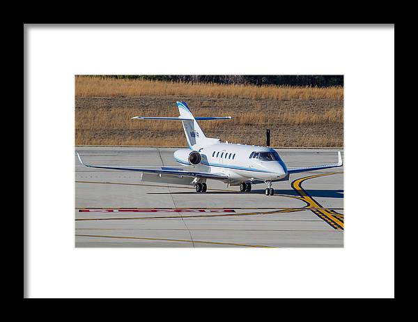 Framed Print featuring the photograph Hawker 900XP by Richard Jack-James