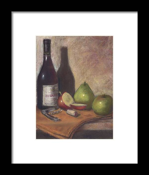 Wine Framed Print featuring the painting Hawley Wine Tasting by Ellen Minter