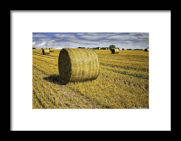 Wales Framed Print featuring the photograph Hay Bales by Fran Gallogly