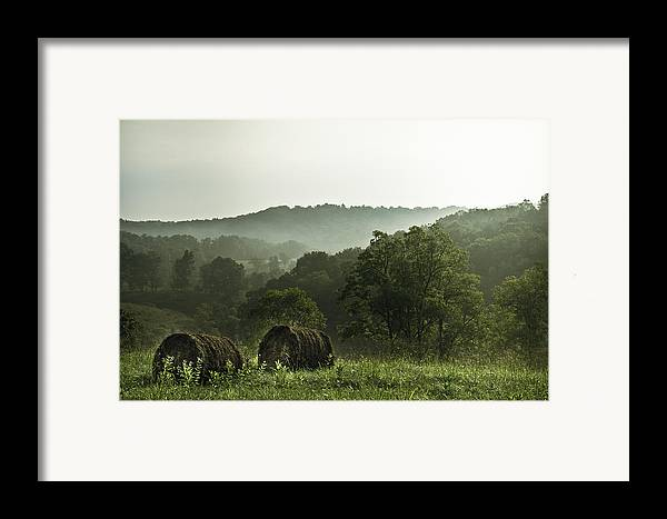 Hay Framed Print featuring the photograph Hay Bales by Shane Holsclaw
