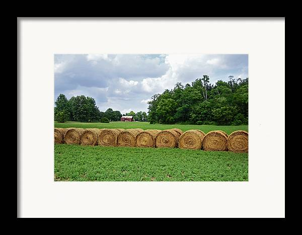 Hay Framed Print featuring the photograph Hay Day by Steven Michael