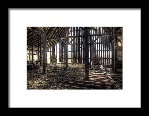 Barn Framed Print featuring the photograph Hay Loft 2 by Scott Norris