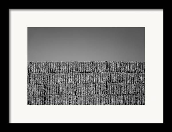 Black & White Framed Print featuring the photograph Hay by Peter Tellone