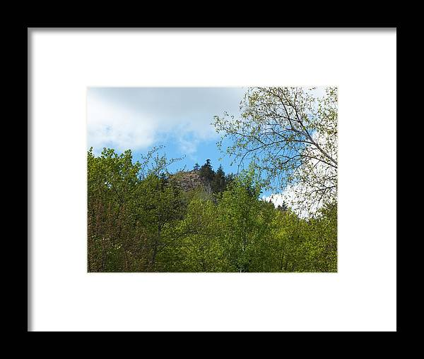 New England Framed Print featuring the photograph Haystack In Spring by Gene Cyr