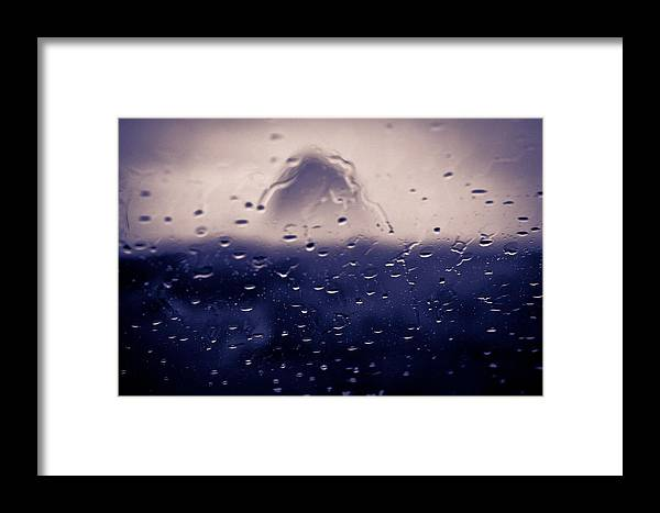 Haystack Framed Print featuring the photograph Haystack Rock Rain by Joseph Bowman