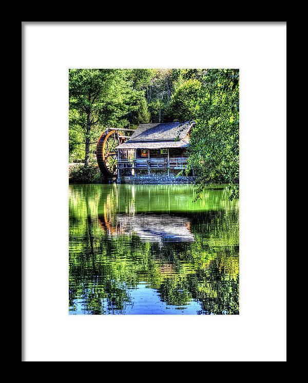 Haywood Community College Framed Print featuring the photograph Haywood Cc Grist Mill by Craig Burgwardt