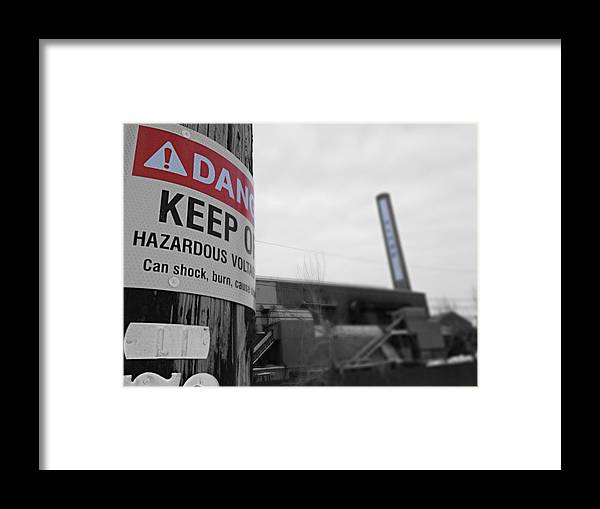 Danger Framed Print featuring the photograph Hazardous by Caleb Pooler