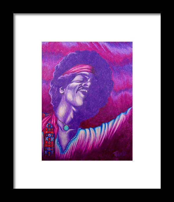 Michael Framed Print featuring the drawing Haze by Michael TMAD Finney