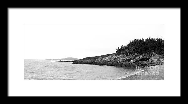 Hazy Day Framed Print featuring the photograph Hazy Day Shoreline by Barbara Griffin