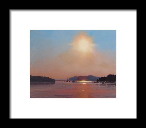 Hull Framed Print featuring the painting Hazy Hot And Humid by Dianne Panarelli Miller