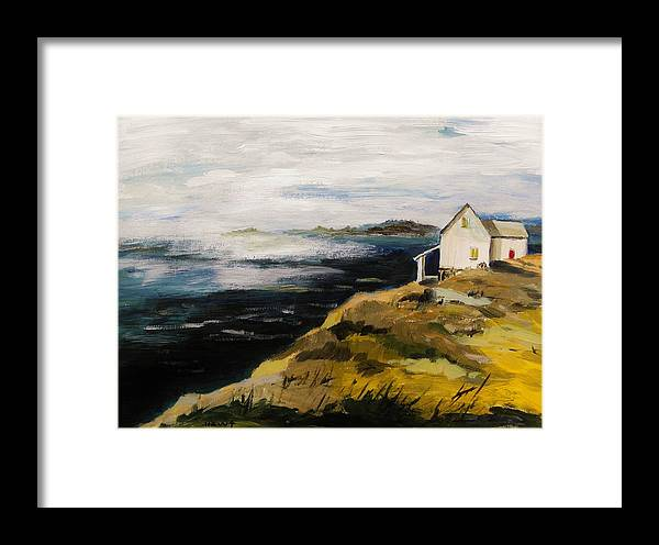Acrylic Framed Print featuring the painting Hazy Moment by John Williams