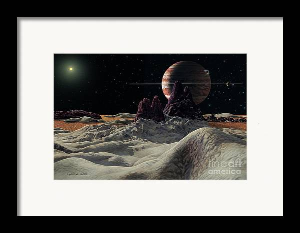 lynette Cook Framed Print featuring the painting Hd 168443 System by Lynette Cook