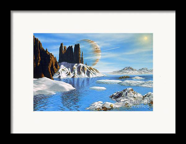 lynette Cook Framed Print featuring the painting Hd 222582 B And Moon by Lynette Cook