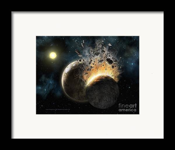 Lynette Cook Framed Print featuring the painting Hd 23514 by Lynette Cook