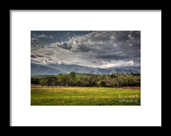 Clouds Framed Print featuring the photograph Hdr April 28 2014 by Douglas Stucky