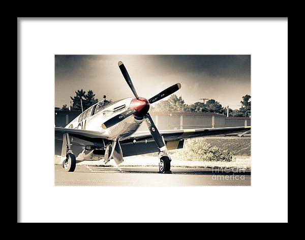 Hdr Framed Print Featuring The Photograph Airplane Plane Black White Vintage Aircraft Gallery Photo