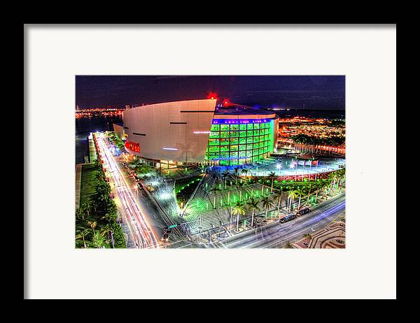 Aaa Framed Print featuring the photograph Hdr Of American Airlines Arena by Joe Myeress