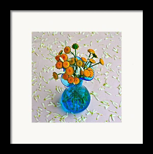 Flowers Framed Print featuring the photograph He Loves Me Bouquet by Frozen in Time Fine Art Photography