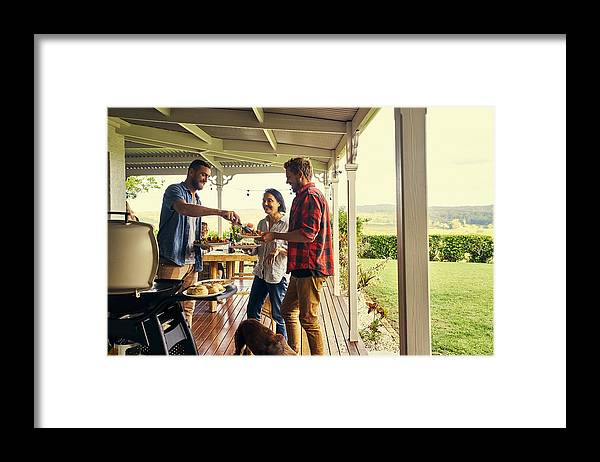 People Framed Print featuring the photograph He sure knows how to host a lunch by Pixdeluxe
