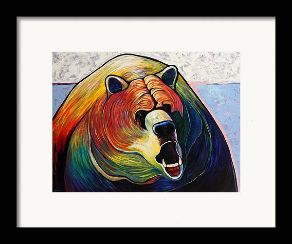 Wildlife Framed Print featuring the painting He Who Greets With Fire by Joe Triano