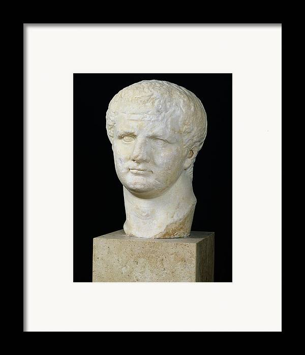 Tete De Framed Print featuring the sculpture Head Of Titus by Anonymous