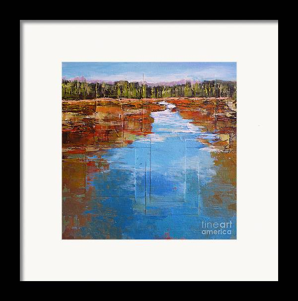 Landscape Framed Print featuring the painting Heading West No. 5 by Melody Cleary