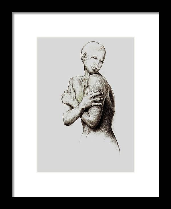 Healing Art Framed Print featuring the drawing Healing Liz by Andrea Carroll