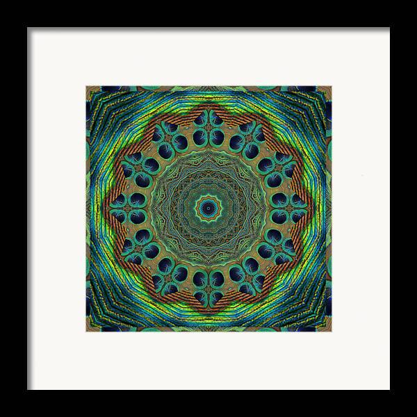 Mandalas Framed Print featuring the photograph Healing Mandala 19 by Bell And Todd