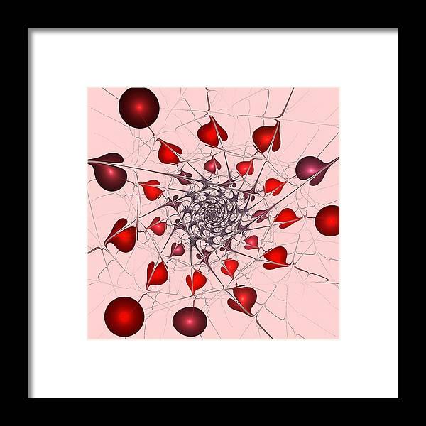 Malakhova Framed Print featuring the digital art Heart Catcher by Anastasiya Malakhova