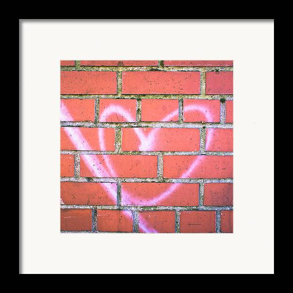 Adoration Framed Print featuring the photograph Heart Graffiti by Tom Gowanlock