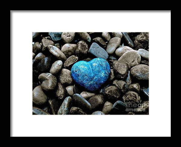 Heart Framed Print featuring the photograph Heart Of Stone 2 by Lisa Telquist