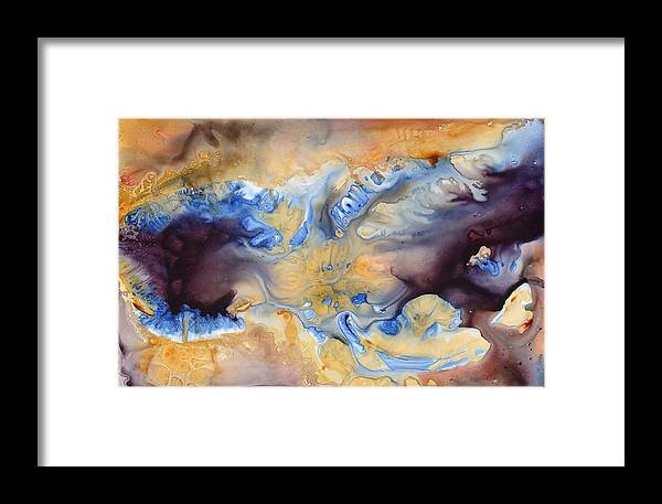 Landscape Framed Print featuring the painting Heart Of The Cosmos by Julia Graf