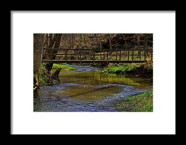 Bridge Framed Print featuring the photograph Heart Of The Woods by John Mullins