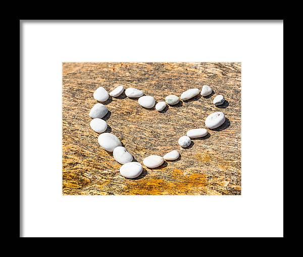 Heart Framed Print featuring the photograph Heart Shape by MotHaiBaPhoto Prints