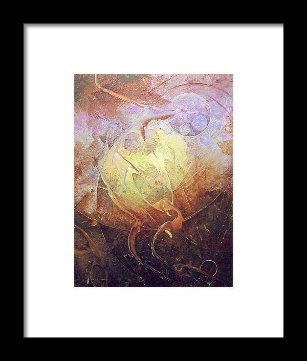 Abstract Paintings Framed Print featuring the painting Heartbeat by Fred Wellner