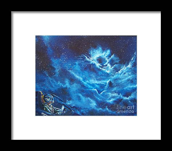 Astro Framed Print featuring the painting Heavens Gate by Murphy Elliott