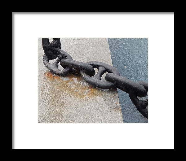 Steel Framed Print featuring the photograph Heavy Duty Anchor Chain by Terry Cobb