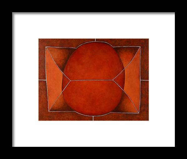 Abstract Art Framed Print featuring the painting Held In 2 by David Douthat