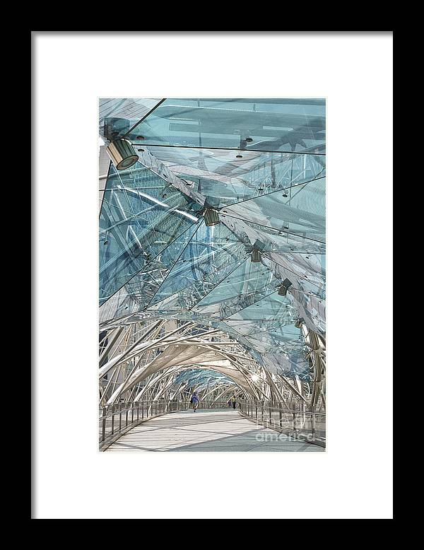 Photography Framed Print featuring the photograph Helix Bridge Singapore by Ivy Ho