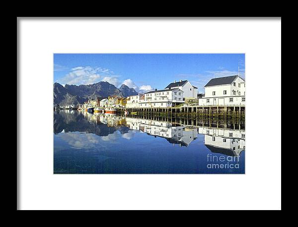 Heiko Framed Print featuring the photograph Henningsvaer Harbour by Heiko Koehrer-Wagner