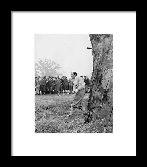 Henry Cotton Playing Golf Framed Print by Keystone Press Agency Ltd