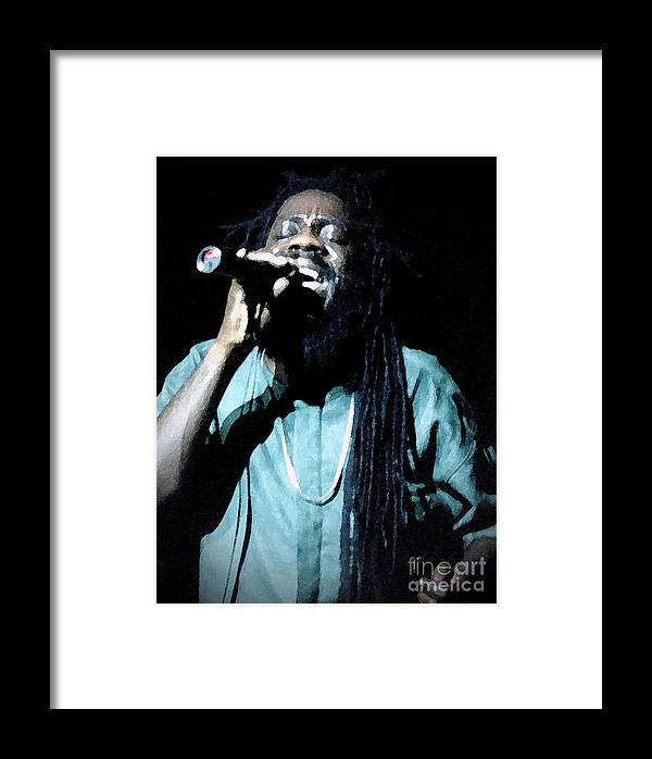 Dennis Brown Framed Print featuring the photograph Here I Come by Audrey Robillard
