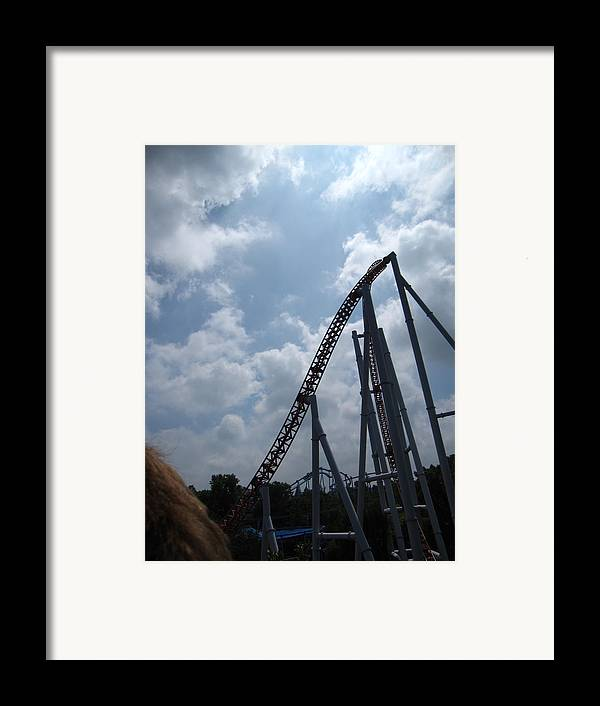 Hershey Framed Print featuring the photograph Hershey Park - Storm Runner Roller Coaster - 12122 by DC Photographer