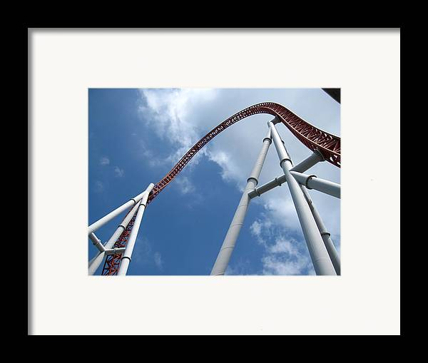 Hershey Framed Print featuring the photograph Hershey Park - Storm Runner Roller Coaster - 12123 by DC Photographer