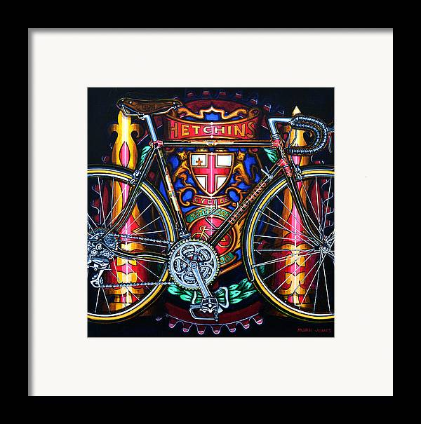 Bicycle Framed Print featuring the painting Hetchins by Mark Jones