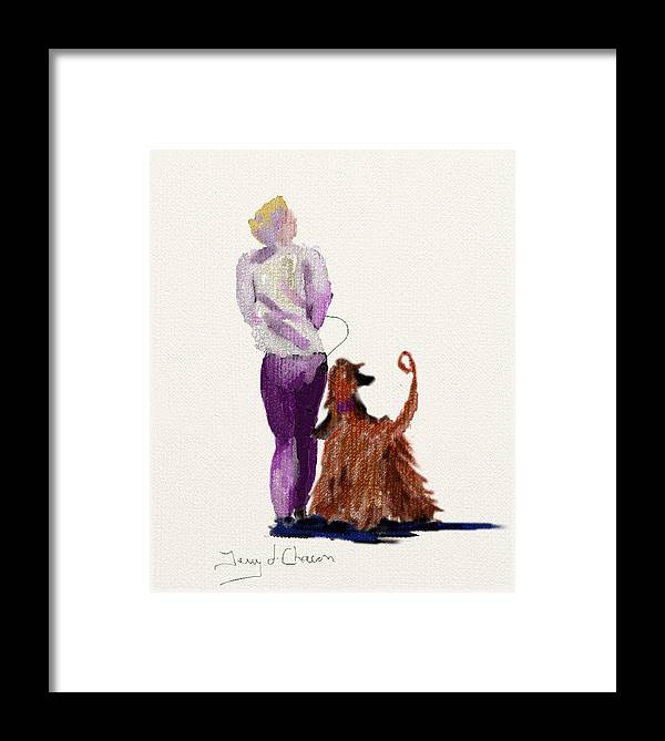 Ipad Painting Framed Print featuring the painting Hey Ma Look Over There by Terry Chacon
