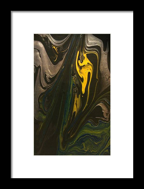 Abstract Framed Print featuring the painting Hidden Message by Sonya Wilson