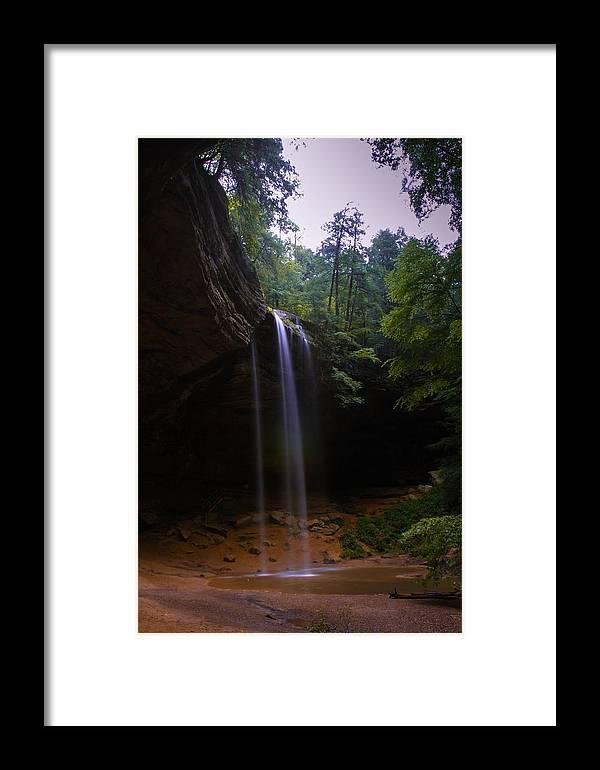 Waterfall Framed Print featuring the photograph Hidden Rainbow by Haren Images- Kriss Haren